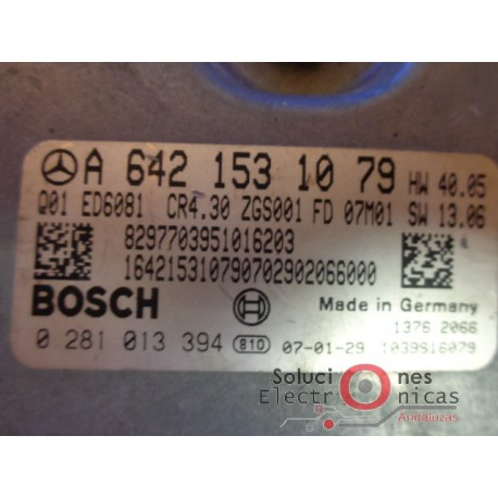 0281013394 ECU CENTRALITA MOTOR MERCEDES-BENNZ SPRINTER 3.0 CDI
