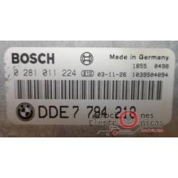 0281011224 ECU CENTRALITA MOTOR BMW 530 E-60 3.0D