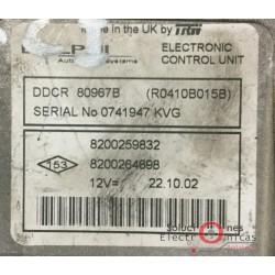 DDCR 80967B (R0410B015B) ECU CENTRALITA MOTOR RENAULT MEGANE 1.5 DCI 80CV